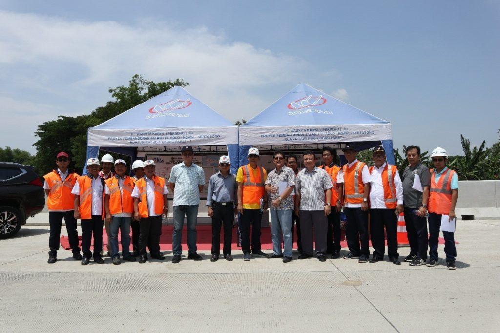 Komisaris Utama PT Jasamarga (Persero) Tbk. Kunjungi Proyek Pembangunan Jalan Tol Ngawi – Kertosono