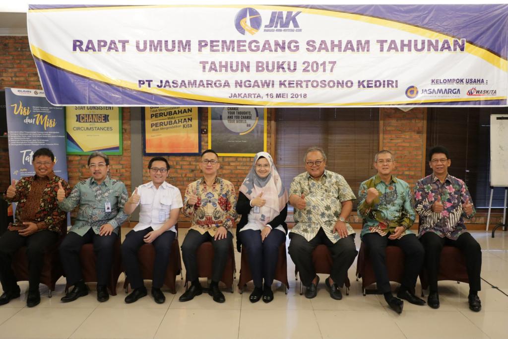 PT Jasamarga Ngawi Kertosono Kediri Gelar RUPST Tahun Buku 2017